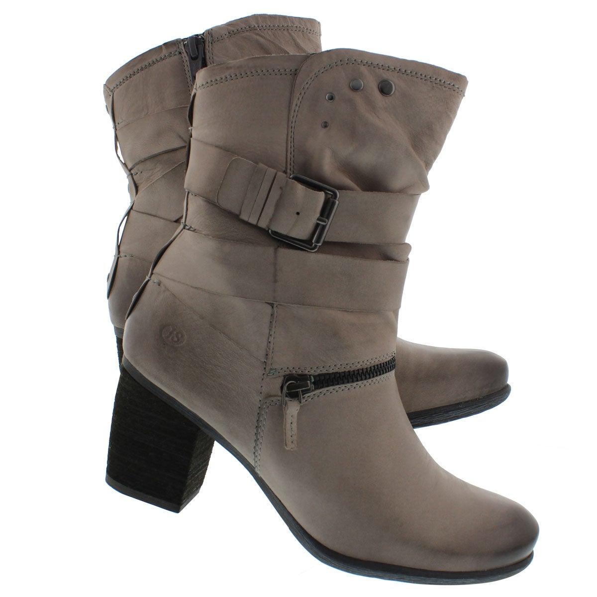 Lds Britney 06 grey lthr mid-calf boot