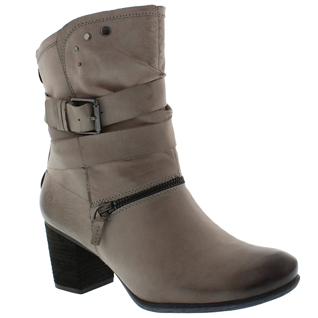 Women's BRITNEY 06 grey leather mid-calf boot