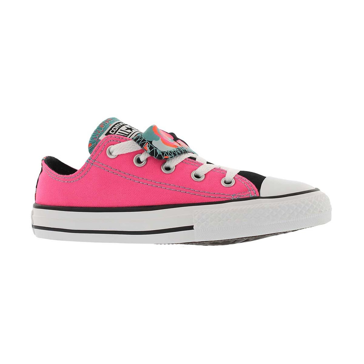 Girls' CT ALL STAR DOUBLE TONGUE pnk/wht sneakers