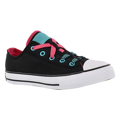 Converse Girls' CT ALL STAR LOOPHOLES black/pink sneakers