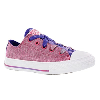 Converse Girls' CT ALL STAR LOOPHOLES pink/grape sneakers