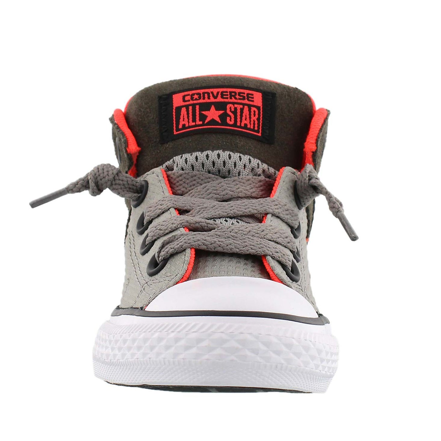 Bys AxelMid RipStop gry/crimson sneaker