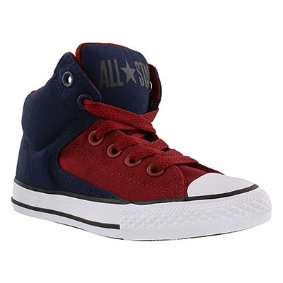 Converse Boys' HIGH STREET HI obsidian/red sneakers