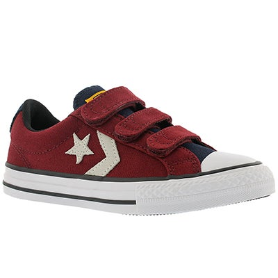 Converse Boys' STAR PLAYER 3V red/white sneakers