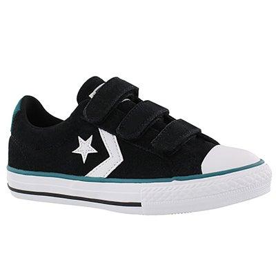 Converse Boys' STAR PLAYER 3V black/white/jade sneakers
