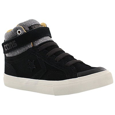 Converse Boys' PRO BLAZE STRAP black hi top sneakers