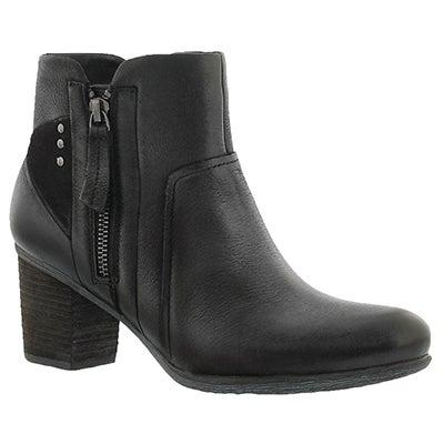 Josef Seibel Women's BRITNEY 41 black leather ankle boots