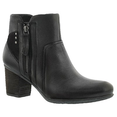 Josef Seibel Women's BRITNEY 41 black leather ankle boots