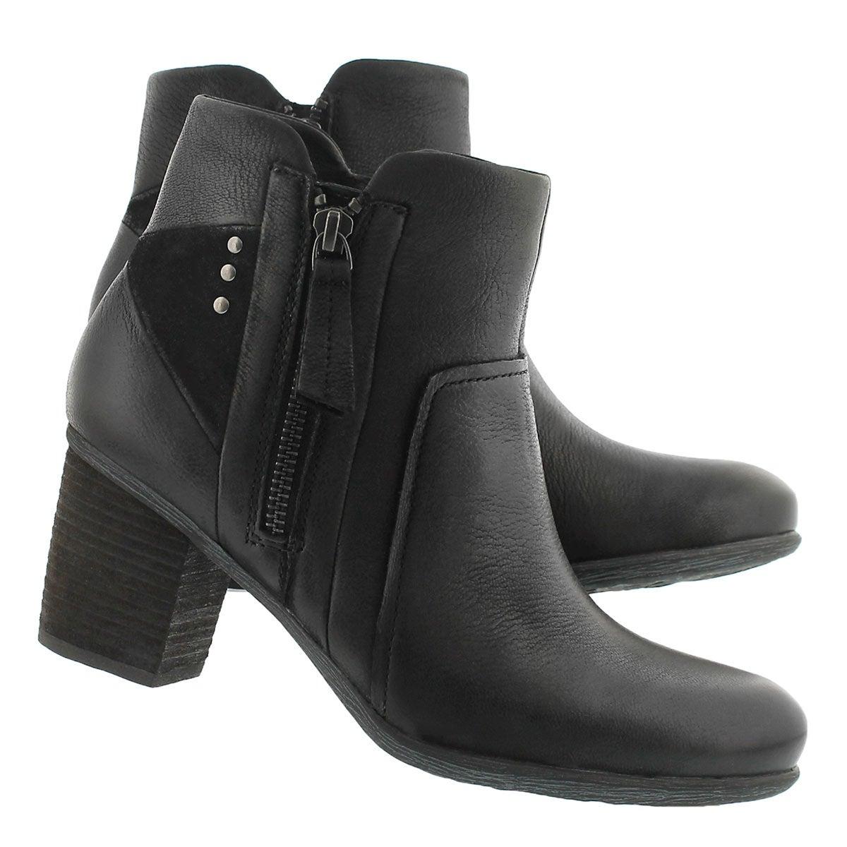 Lds Britney 41 black lthr ankle boot