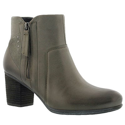 Josef Seibel Women's BRITNEY 41 olive leather ankle boots