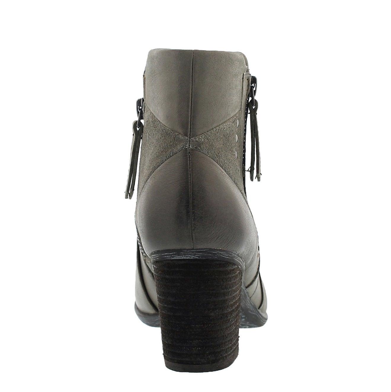 Lds Britney 41 olive lthr ankle boot