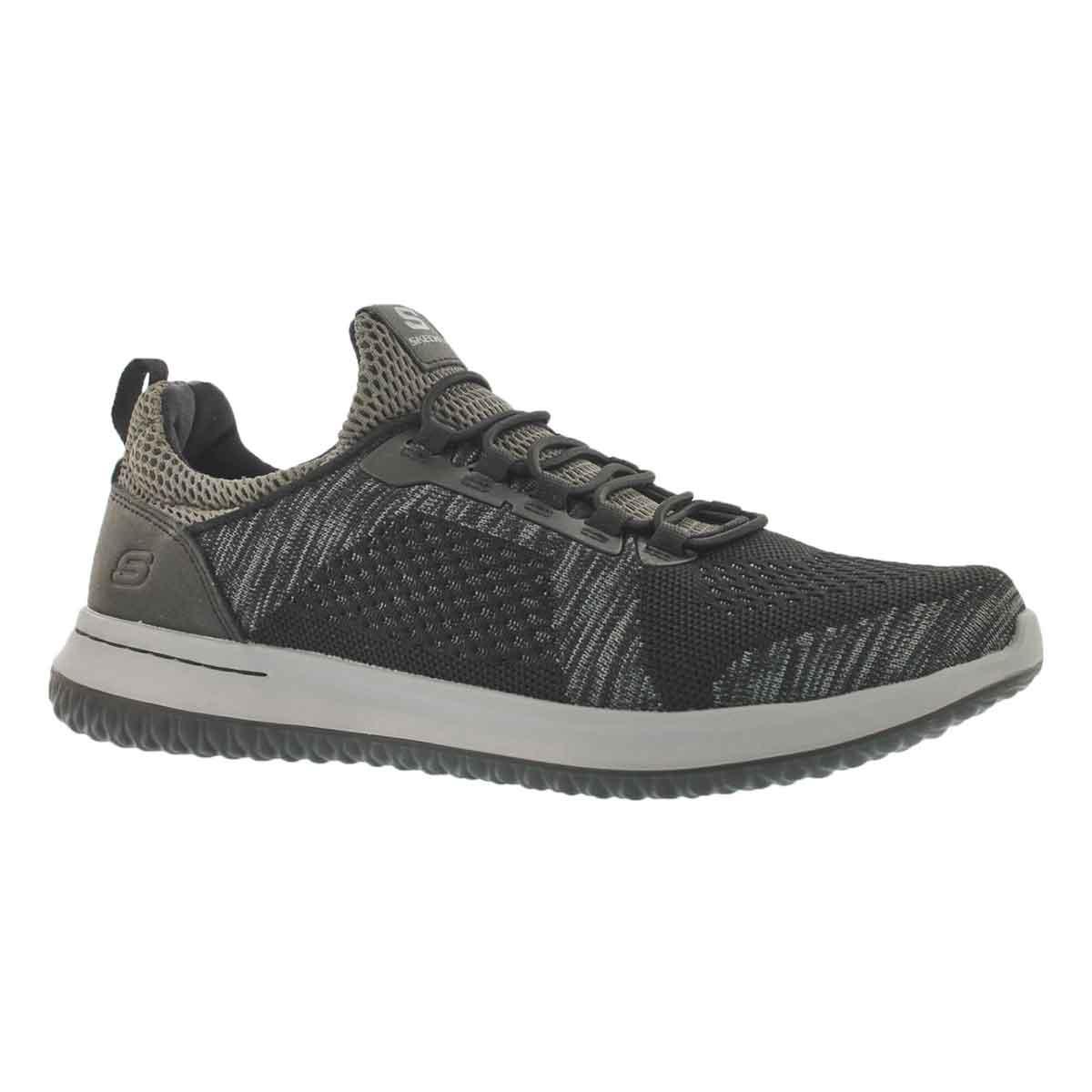Men's DELSON BREWTON blk/char slip on sneakers