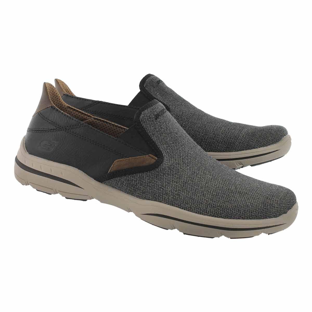 Mns Harper Trefton bk/tn slip on shoe