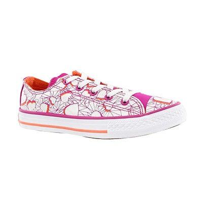 Grls CTAS Valentines mgnta/mngo sneaker