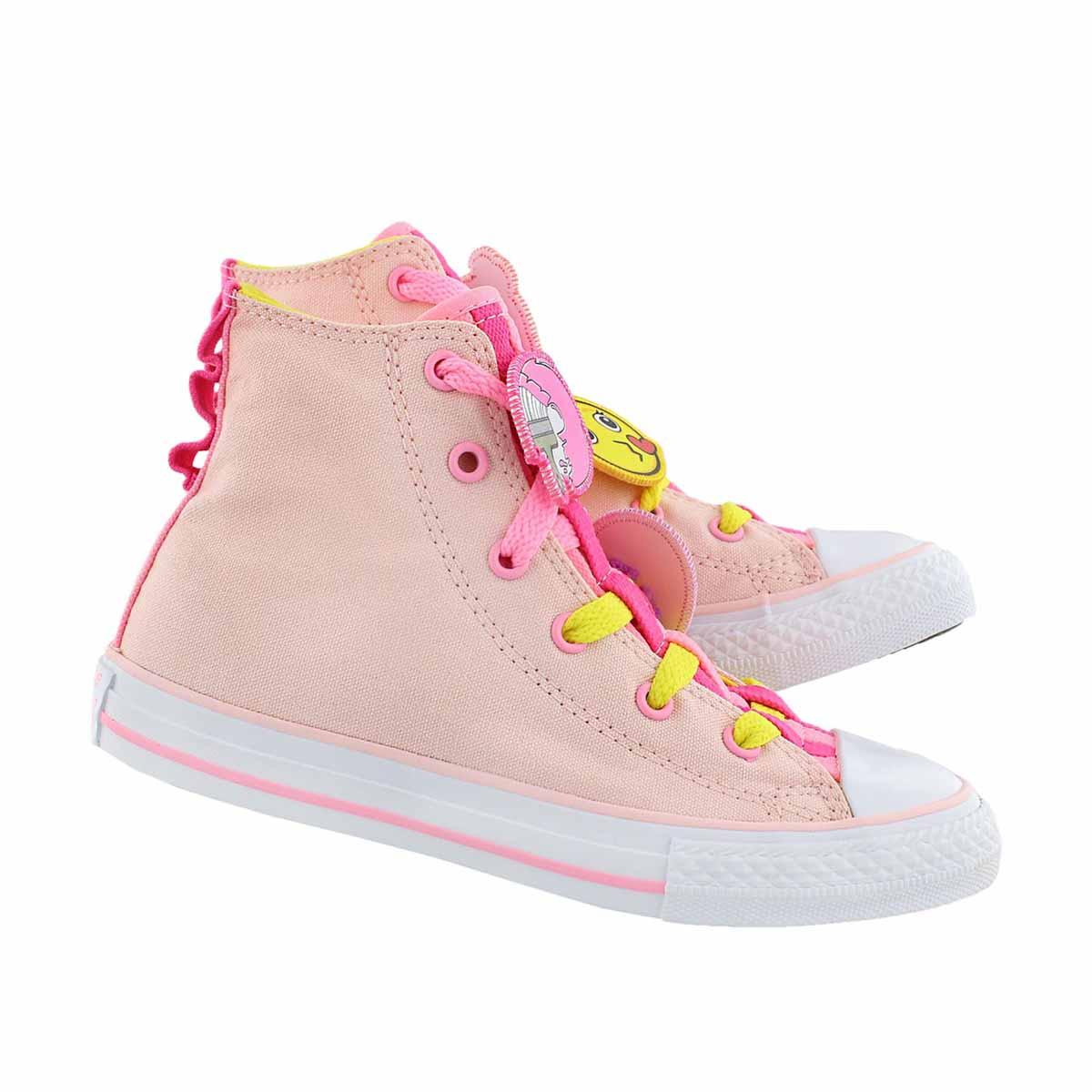 15867bf5f5f2 Converse Girl s Chuck Taylor All Star Loopholes Emoji High Top Sneaker