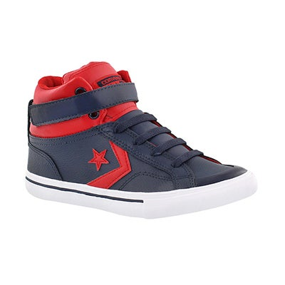 Converse Boys' PRO BLAZE HI navy/red sneakers