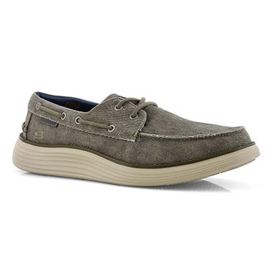 Mns Status 2.0 Lorano taupe boat shoe
