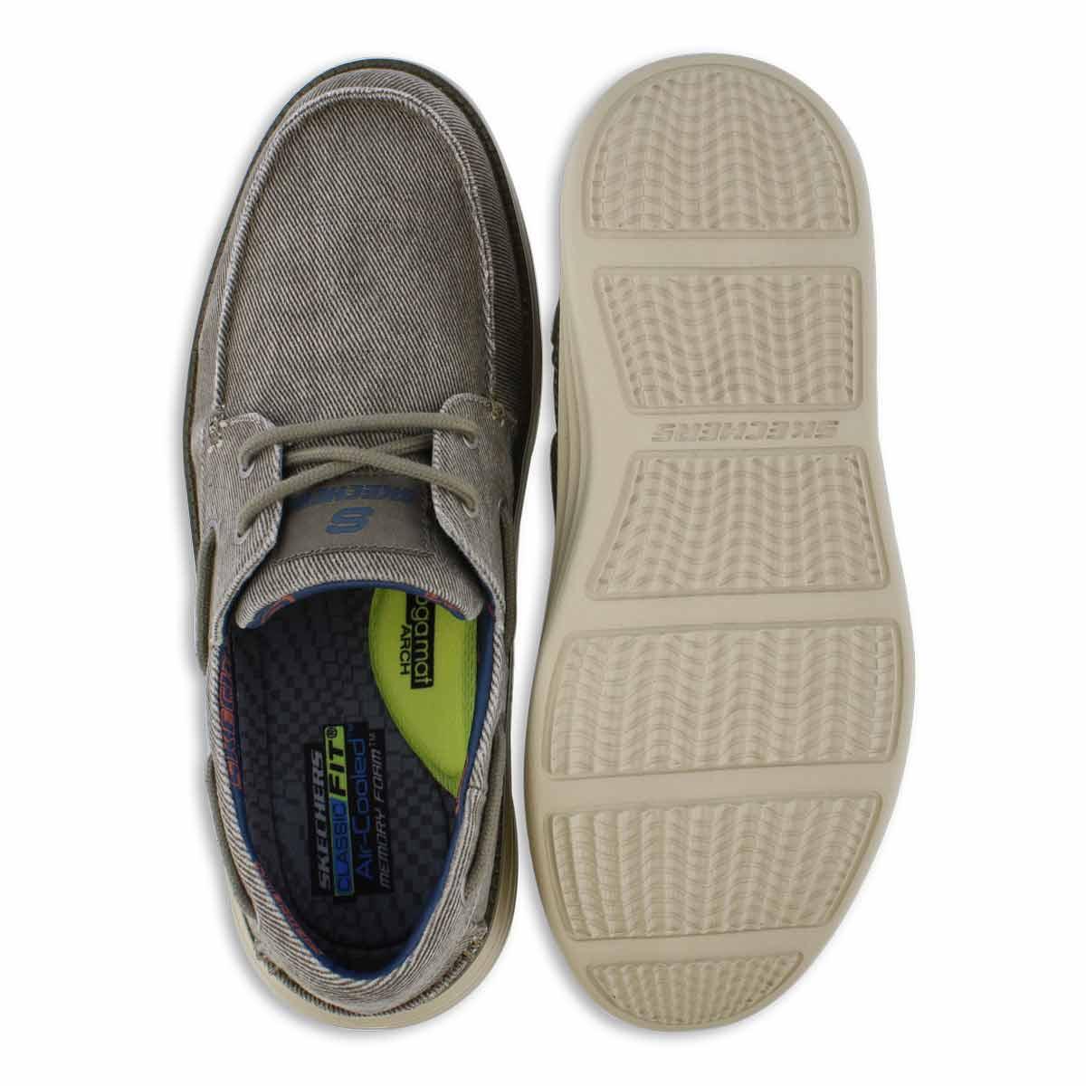 Mns Status 2.0 Lorano taupe boat shoe