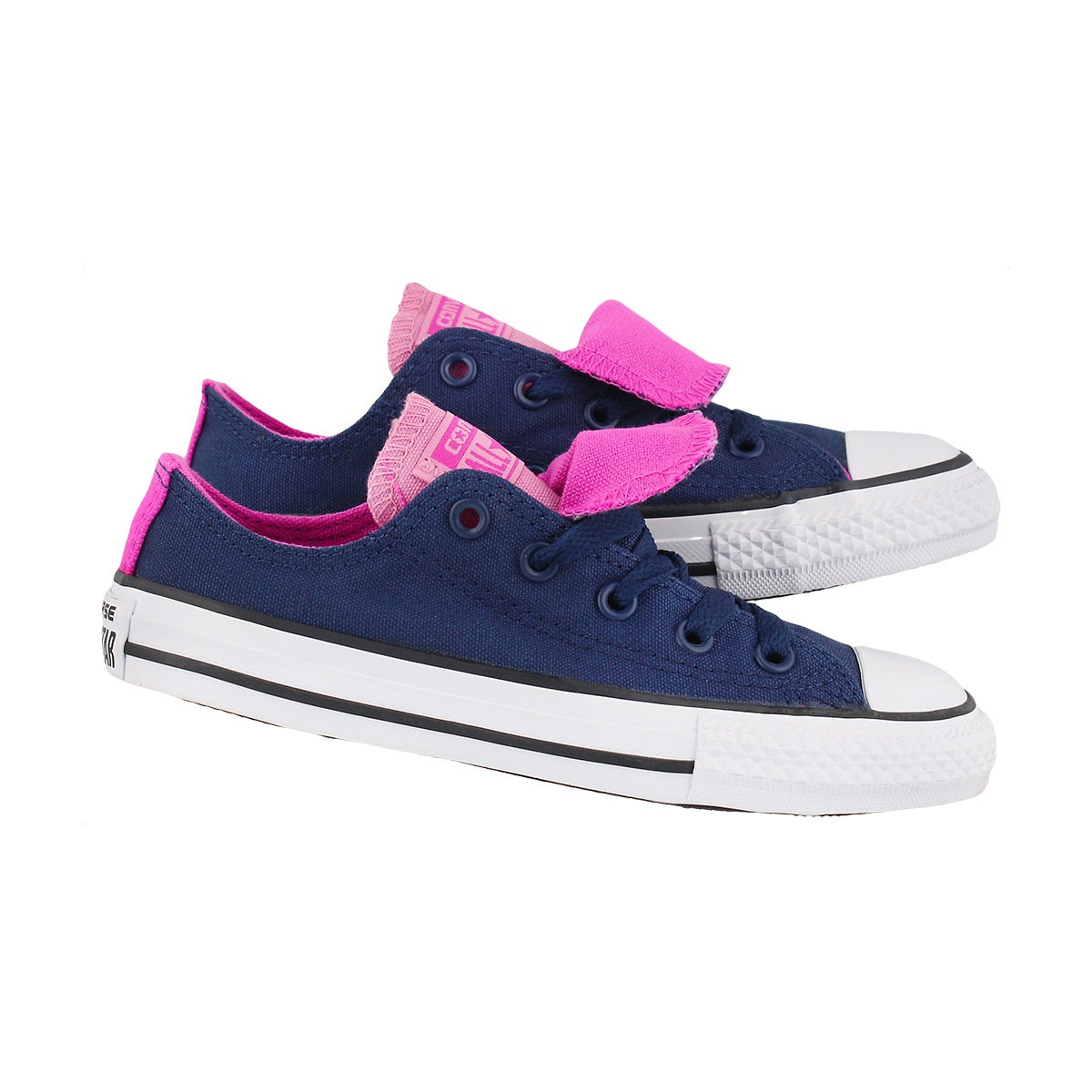 Grls CTAS Double Tongue nvy/pnk sneaker