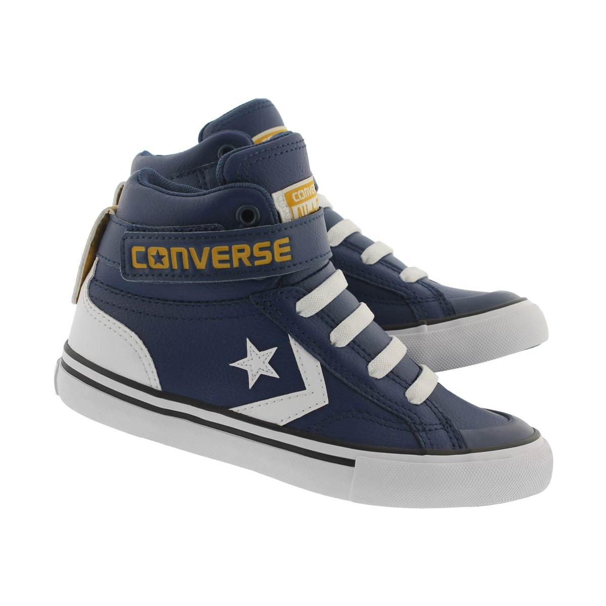 Bys Pro Blaze Hi nvy/wht/yellow sneaker