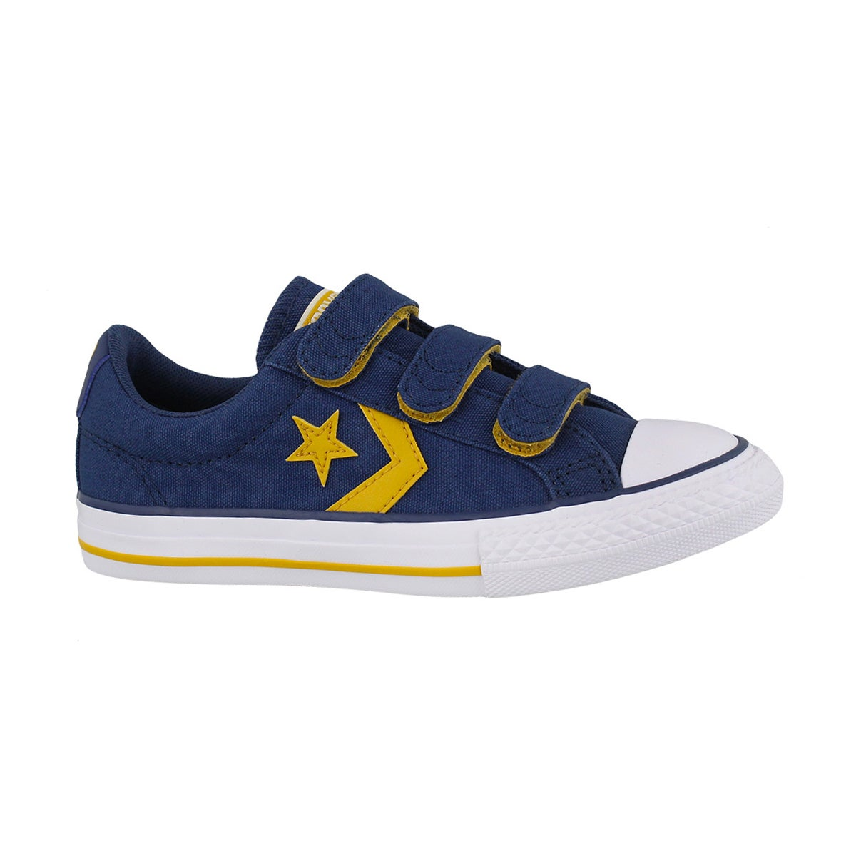 Boys' STAR PLAYER 3V navy/yellow/white sneakers