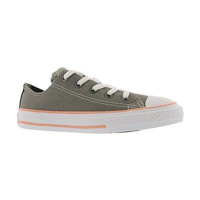 Grls CTAS Seasonal stucco/coral sneaker