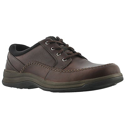 Clarks Men's PORTLAND2 TIE brown comfort oxfords - Wide