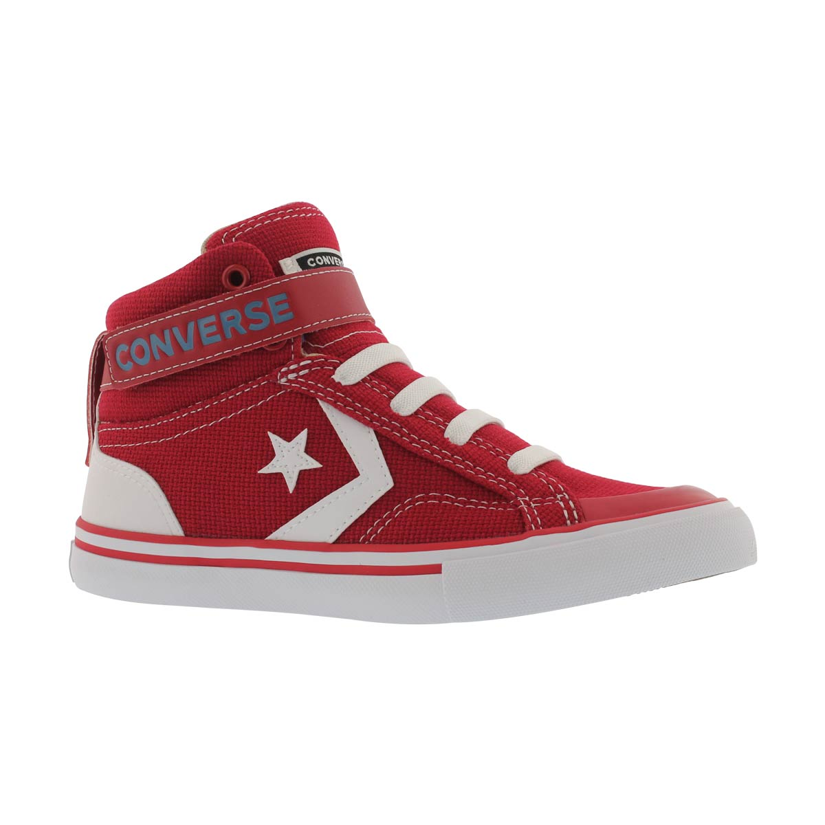Boys' PRO BLAZE STRAP red hi top sneakers