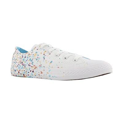 Grls CTAS Bday Confetti wht/mlti sneaker