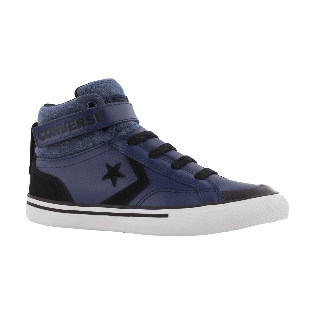 Boys PRO BLAZE STRAP navy hi top sneaker