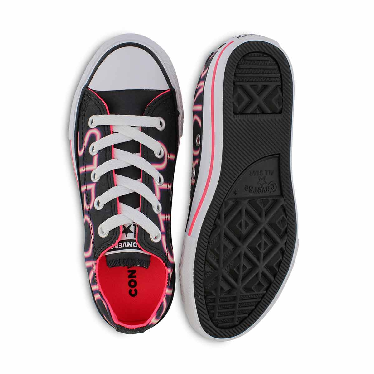 Grls CTAS Girl Power blk/pnk sneaker