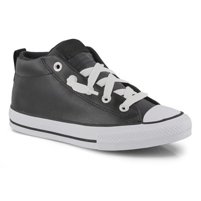 Bys CTAS Street black mid sneaker