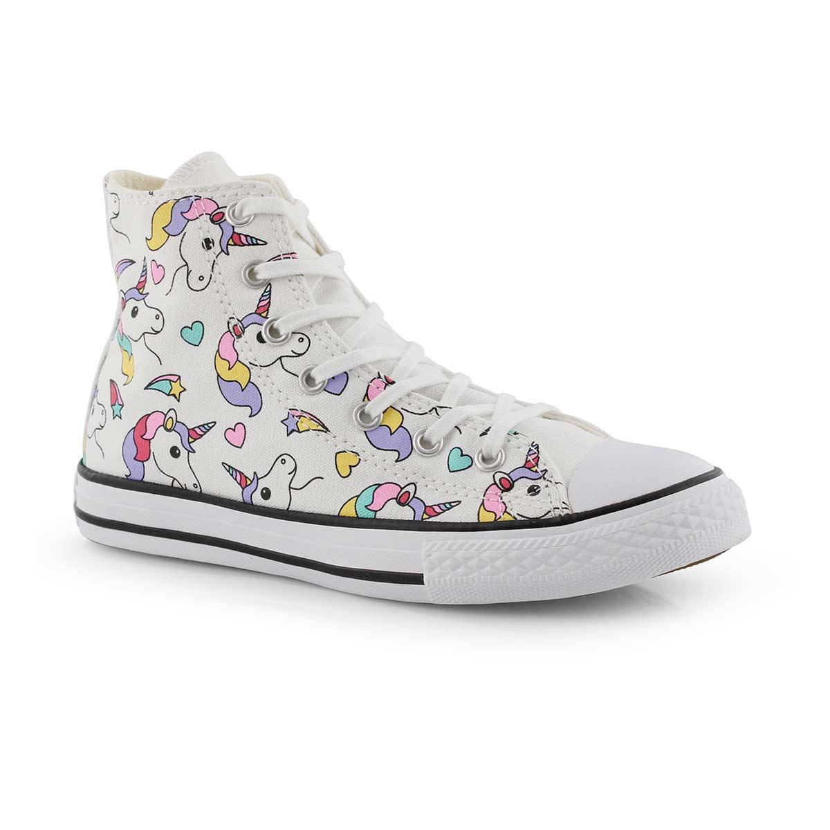 4d8b8325fda1 Converse Girls' Chuck Taylor All Star Unicorn Hi Top Sneaker   eBay