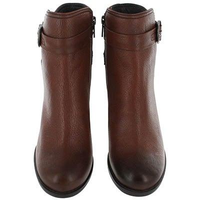 Clarks Women's JOLISSA TOPAZ  brown buckle dress boots