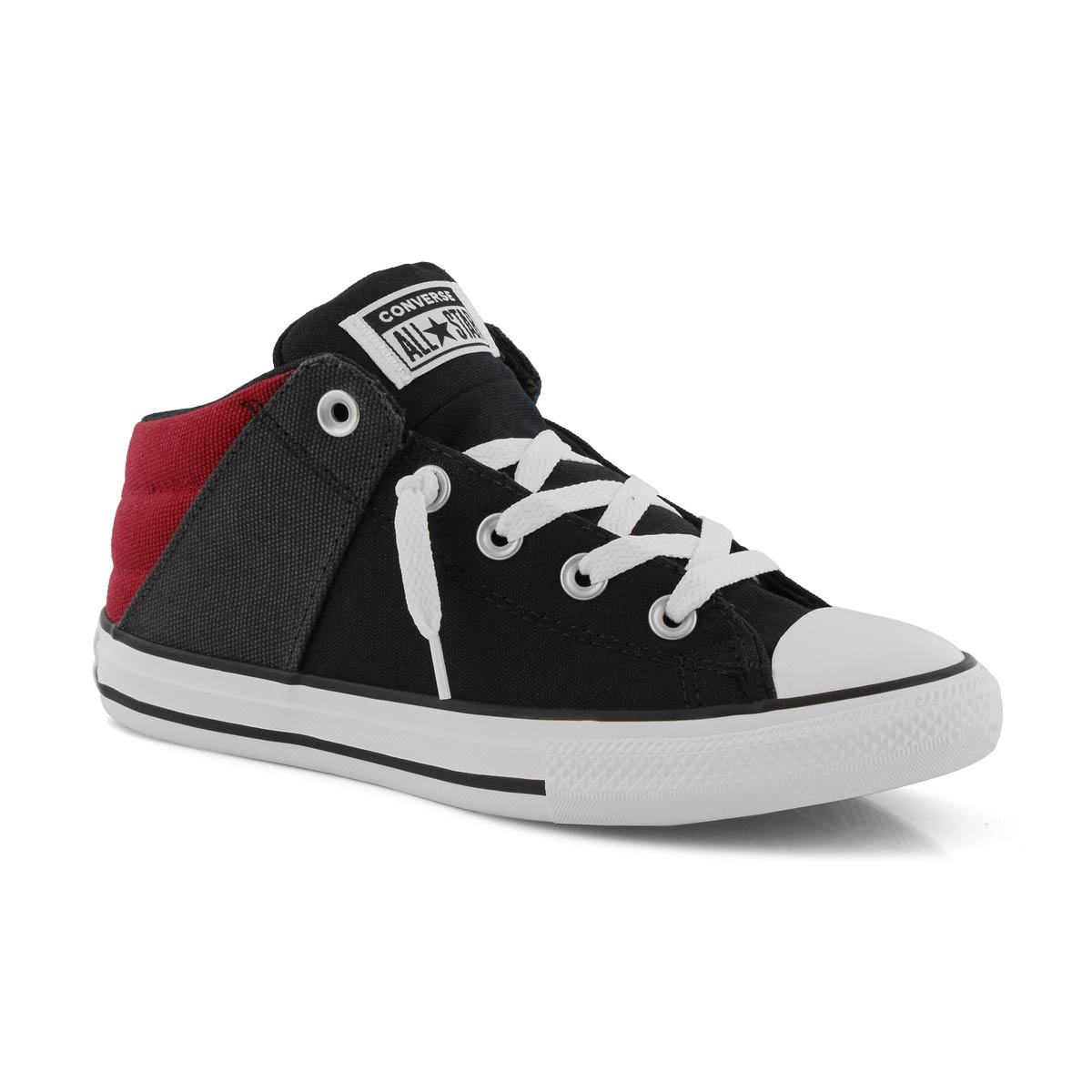 Bys CTAS Axel Street Mid bk/gry/red snkr