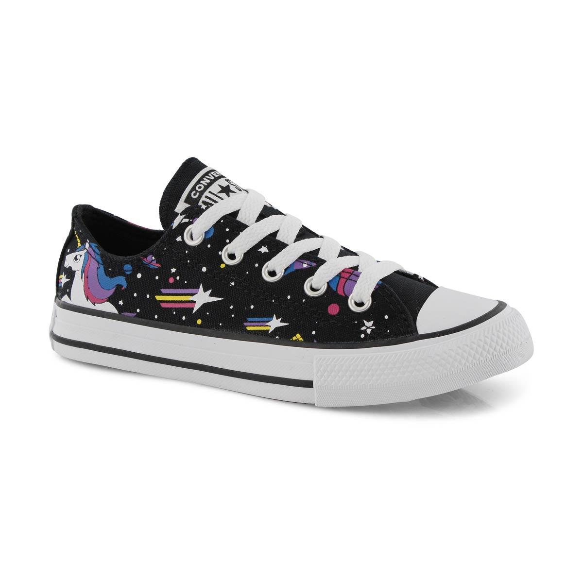 Grls CTAS Unicorns blk/pnk/wht sneaker