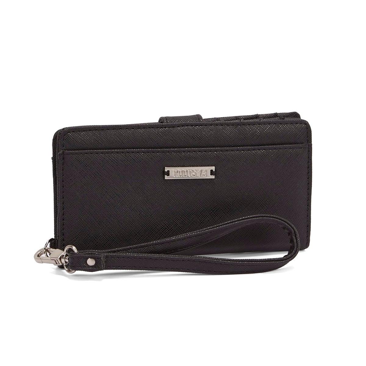 Lds Graphite black top buckle wallet