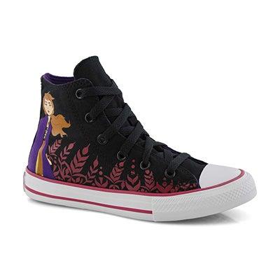 Grls CTAS Frozen black hi top sneaker