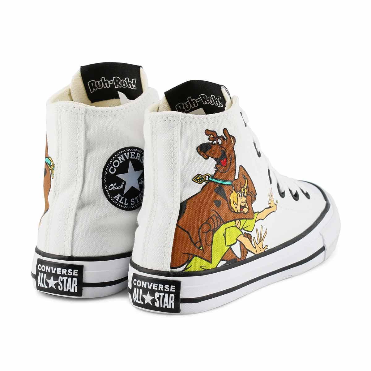 Kds CTAS Scooby Doo wht/mult hi top snkr