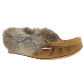 Lds cork rabbit fur moccasin