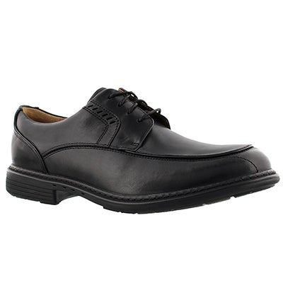 Clarks Men's UN.RAGE black lace-up dress shoes - Wide