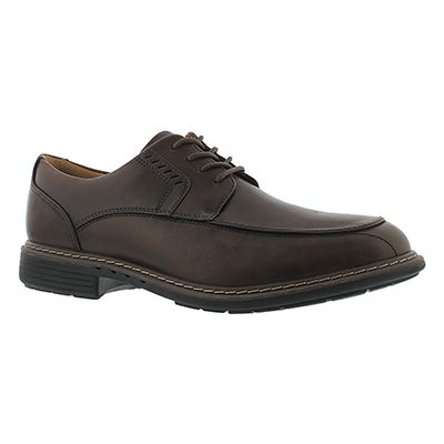 Clarks Men's UN.RAGE brown lace-up dress shoes - Wide