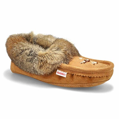 SoftMoc Women's RABBIT fleece lined mocha moccasins