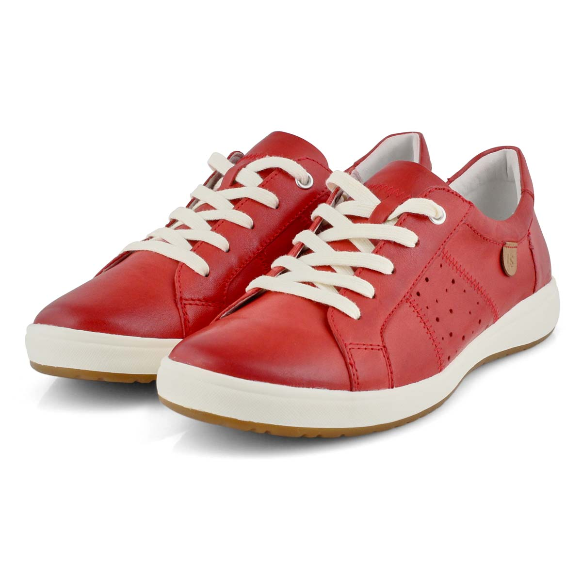Lds Caren 01 red lace up sneaker
