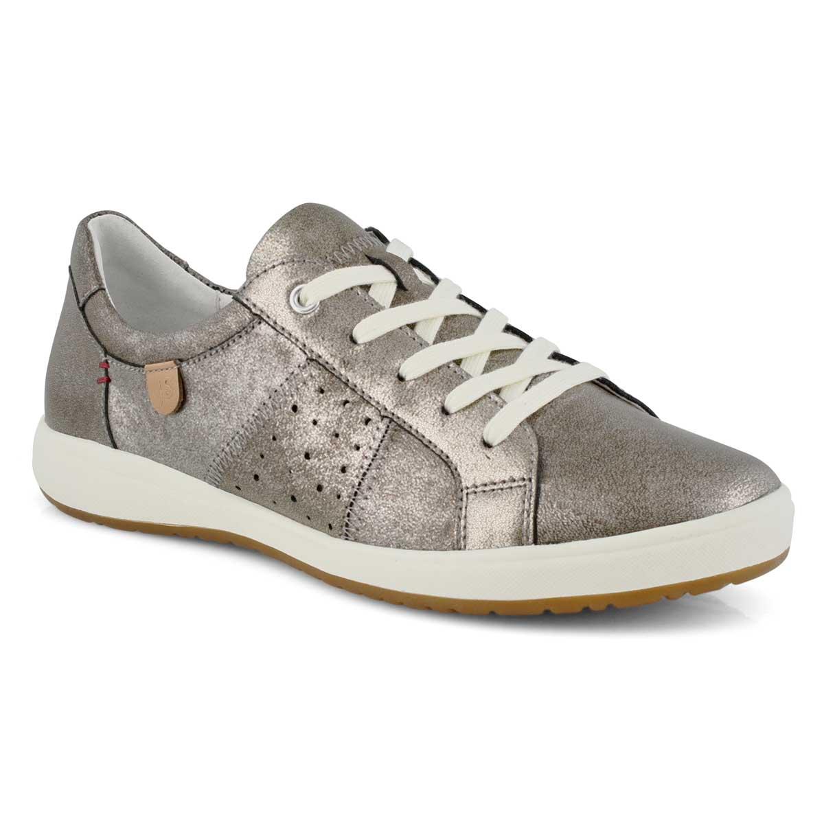 Lds Caren 01 platinum lace up sneaker