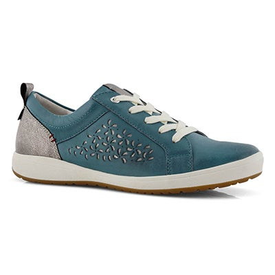 Lds Caren 06 blue lace up sneaker