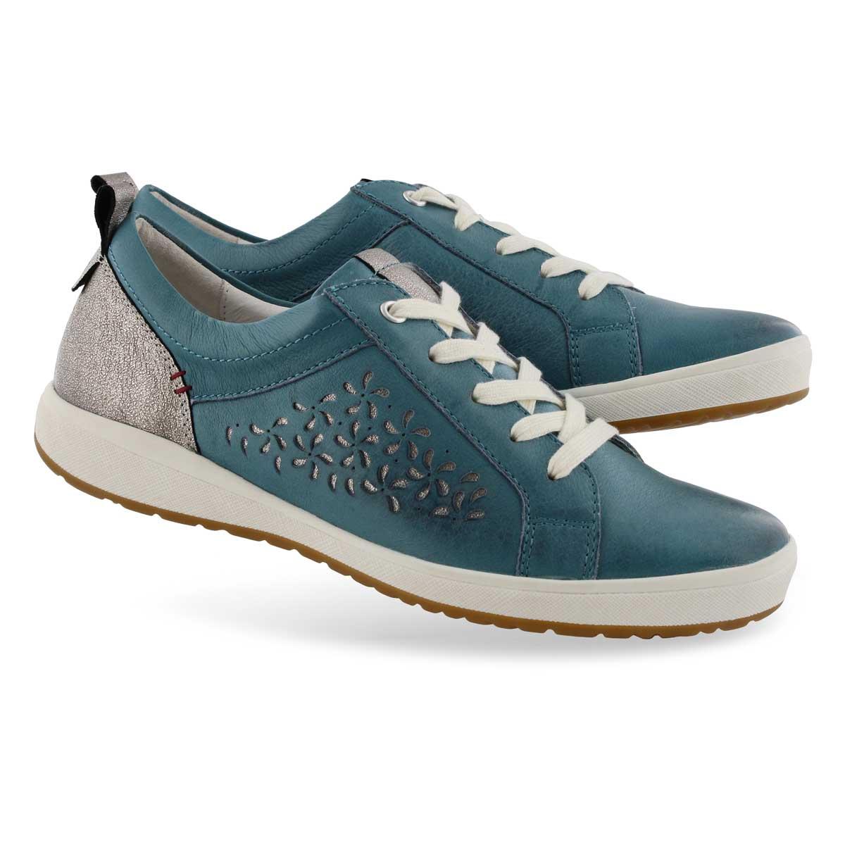 Lds Caren 06 blue lace up sneaker