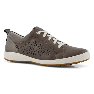 Lds Caren 06 grey lace up sneaker