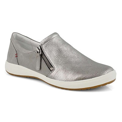 Lds Caren 22 platinum slip on sneaker