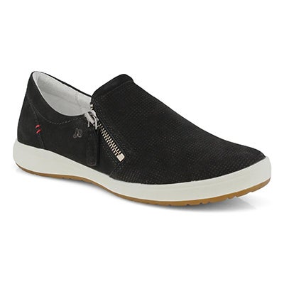 Lds Caren 22 black slip on sneaker